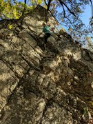 Rock Climbing Photo: Kieley takes a second to smile for the camera as s...