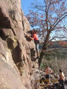 Stephan on the crux