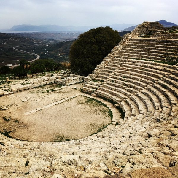 Great rest day option, visiting the old theatre at Segesta
