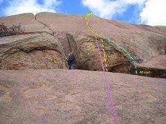 Rock Climbing Photo: Topo for PukeShoes