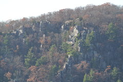 Rock Climbing Photo: Telephoto of Weissner Wall and Cleo's Amp from...