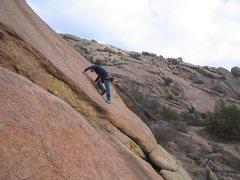 Rock Climbing Photo: Cole Barritt climbing the face right of Tiny Right...