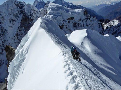 Rock Climbing Photo: Masha Gordon again reaching the narrow Southwest r...