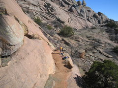 Rock Climbing Photo: View of P&A from Tiny Bubbles