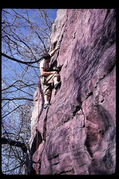 Rock Climbing Photo: RG on Peter's Project 50 years ago...