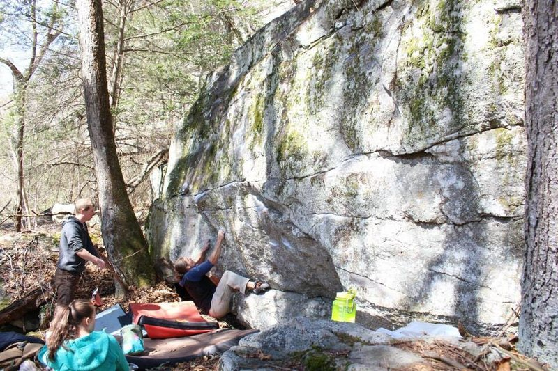 "Rock Climbing Photo: Brad on the start to ""Shantay You Stay"""