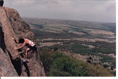 Rock Climbing Photo: Barritt freesolo on Pirates 1986