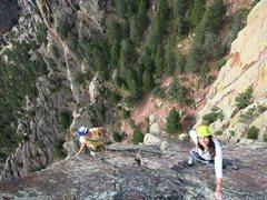 Rock Climbing Photo: Kickin' it with Johnny
