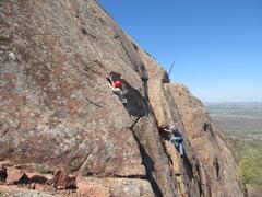 Rock Climbing Photo: Josh Howard on Pirates 2012 boyscout climbing trip