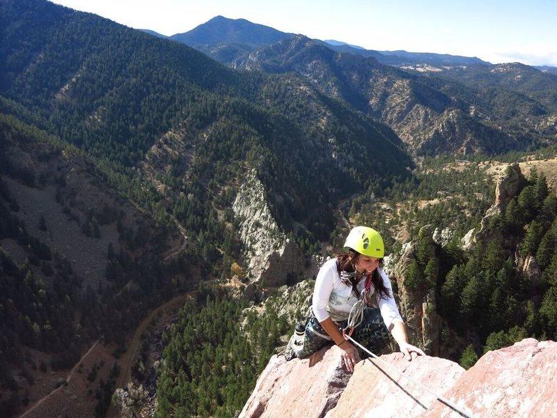 Rock Climbing Photo: Rebuffat's Arete super easy and tons of fun!
