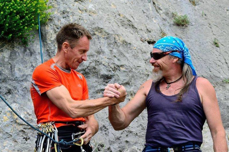 Denis Urubko and Franco Piccaro, starting line!