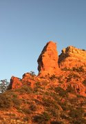 Rock Climbing Photo: Devil's thumb on the approach. Do you see a fa...