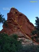 Rock Climbing Photo: Hangnail 5.10- (NE face of Devil's Thumb)