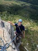 Rock Climbing Photo: topping out Maginot Line on shortoff mtn