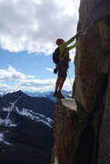 Rock Climbing Photo: Scouting the next moves after coming out of the sh...