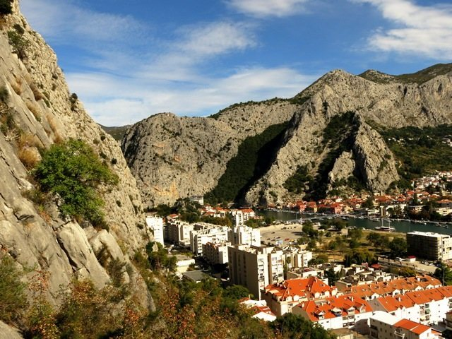 Rock Climbing Photo: View of Omiš from Stomorica