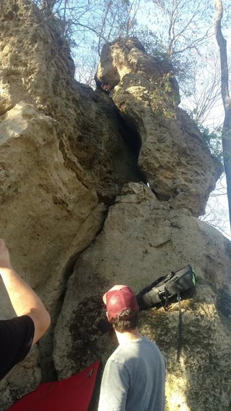 Rock Climbing Photo: Tips crack, offwidth, squeeze chimney... what more...