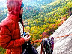 Rock Climbing Photo: Taking in the view at Laurel Knobb