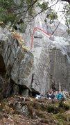Rock Climbing Photo: The Green Team 5.8