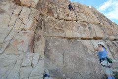 Rock Climbing Photo: CJ blasting through Butterfingers. Crux is definet...