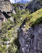 Rock Climbing Photo: The gully. Beautiful.