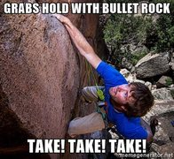 Rock Climbing Photo: Take!