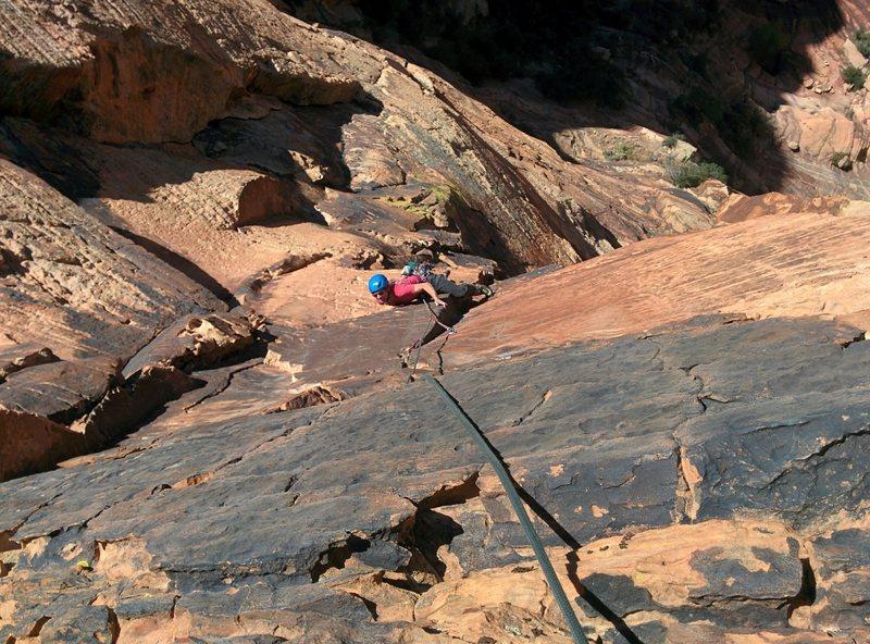 Rock Climbing Photo: P4 Crux