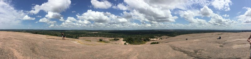 Panoramic shot from the top of the Big Dome. 360 degree view of the beautiful Texas hill country.