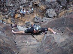 "Rock Climbing Photo: ""Grandpa's Route"" 5.10d Black Cliffs..."