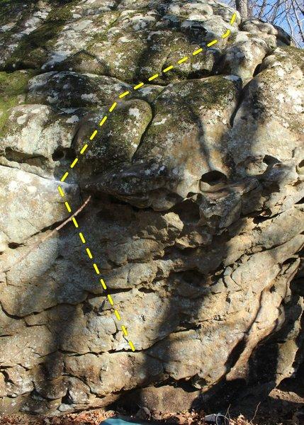 left side of boulder