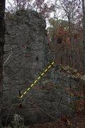 Rock Climbing Photo: two face topo