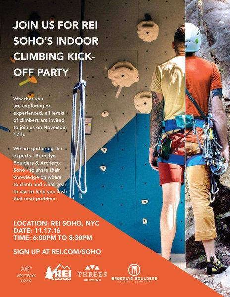 Rock Climbing Photo: Event Flyer.