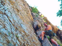Rock Climbing Photo: Christian is not on the route (just messing around...