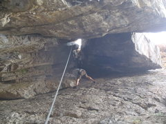 Rock Climbing Photo: If you swing to the opposite wall and climb up tha...