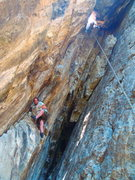 Rock Climbing Photo: Christian climbing up to the crux (it's right ...