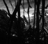 Rock Climbing Photo: Black lines through the landscape!!
