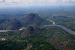 Rock Climbing Photo: Aerial view of the domes and river.