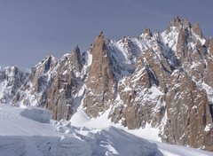 Rock Climbing Photo: East Face, Grand Capucin, Swiss Route left skyline...