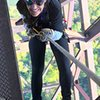 Rappelling 850ft off the New River Gorge Bridge for Bridge Day, Oct. 2016.