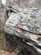 "Rock Climbing Photo: Election Boulder. The back roof with ""Every V..."