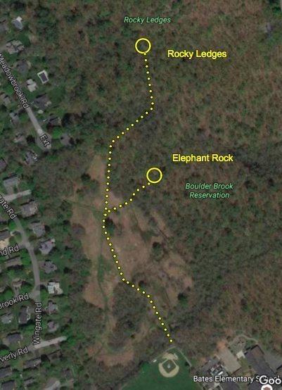 Directions to the Rocky Ledges.