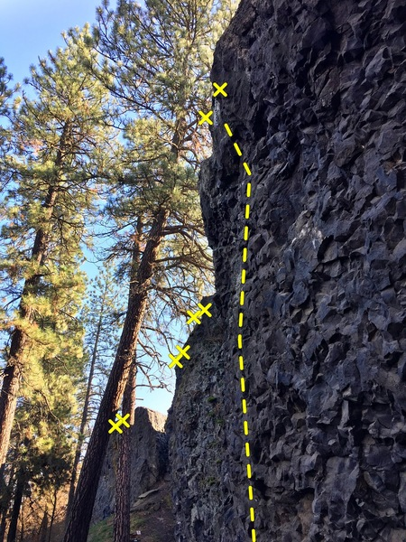 Rock Climbing Photo: Fourth climb west of the access ramp on the main w...