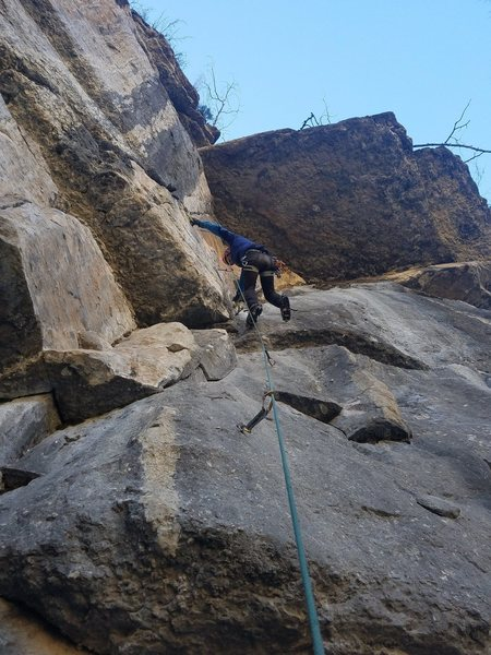 Rock Climbing Photo: Does anyone know what climb this is? It's far ...