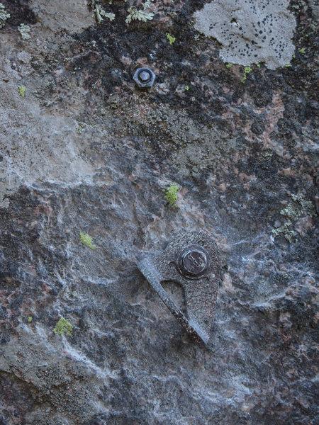 Rock Climbing Photo: The bolt we found. It didn't seem too dangerou...