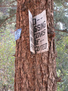 Rock Climbing Photo: I walked right by this old sign and didn't eve...