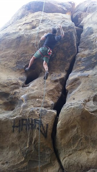 Rock Climbing Photo: Is this the Left Route or is it the line even furt...