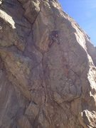 Rock Climbing Photo: In the crux area.