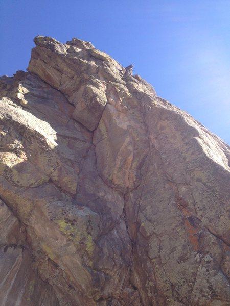 Rock Climbing Photo: At the hand crack.