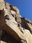 Rock Climbing Photo: On the 5.7 variation start.