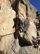 Rock Climbing Photo: On the 10b variation start.